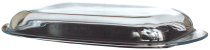 Oval glass lid 33x22 cm