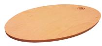 Oval wooden trivet 90192