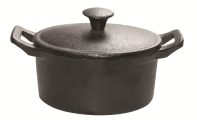 Oval mini pot with lid