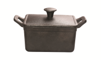 Rectangular mini pot with lid